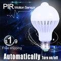 PIR Motion Sensor Bulb E27 Lamp Sound & Light Control E27 Infrared Led Energy Saving Bulb Lights 3W 7W 9W 220V for Home Lighting