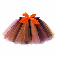 Halloween Costume Baby Girs Skirts Orange And Black Tulle Tutu Skirt Toddler Kids Pettiskirt Baby Party