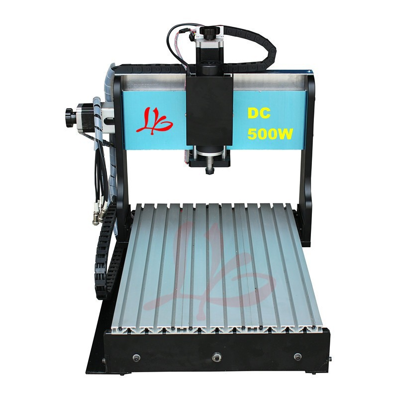 Russia free ship & No tax! micro cnc engraving machine hobby 3d cnc router 3020 Z-S 4 axis 500W,mini metal cnc milling machine russia tax free cnc woodworking carving machine 4 axis cnc router 3040 z s with limit switch 1500w spindle for aluminum