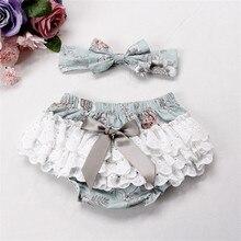 Новые милые кружевные Хлопковые Штаны для новорожденных девочек, Короткие трусы подгузники, трусики детские панталоны, шорты для малышей от 0 до 24 месяцев