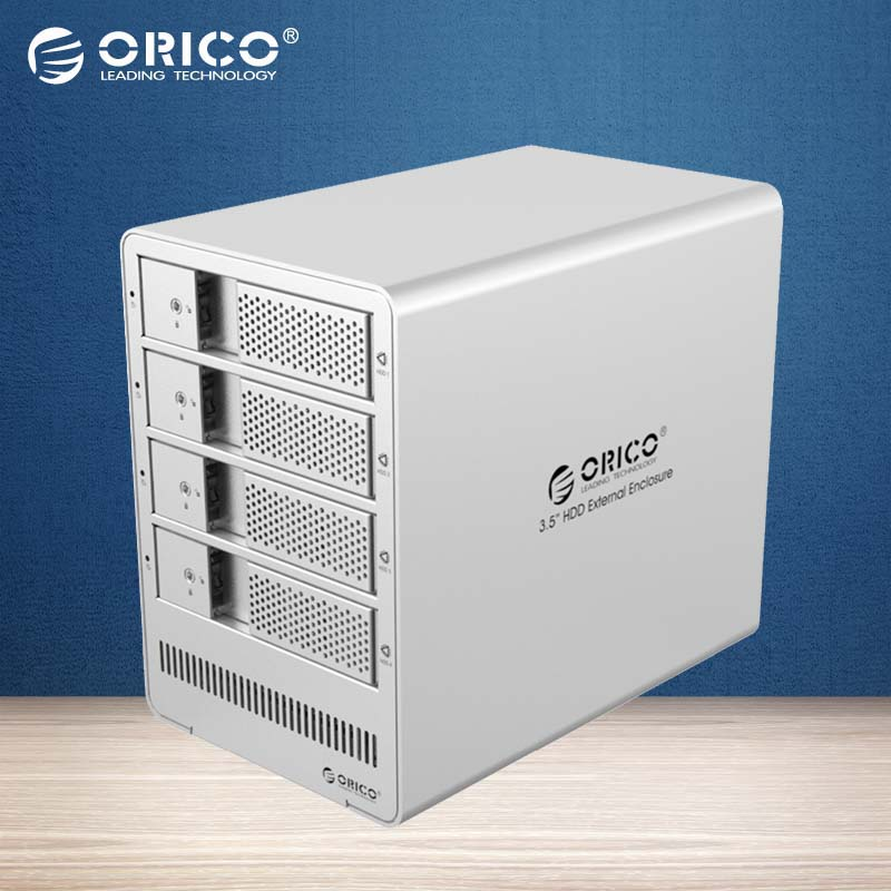 ORICO 4 bays 3.5 USB3.0 to SATA HDD Enclosure 4bay HDD Docking Station Intelligent sleep Case for Laptop PC HDD Case-(9548U3)