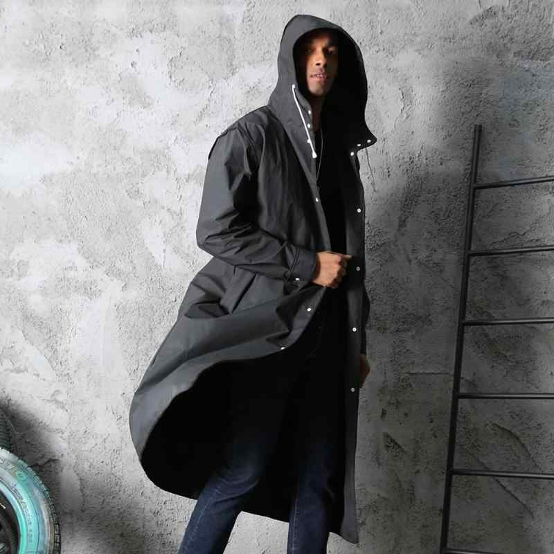 Outdoor Raincoat Waterproof EVA Adults Thicken Hooded Raincoat Women Men Camping Travel Rainwear Rain Plastic Clothes Covers