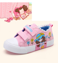 New Spring Girls Children Casual Denim Canvas Cartoon Shoes For Baby Teens Girls Student Shoes 1 3 5 7 9 10 11 12 13 15 Years 25