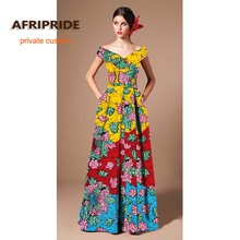 2019 ARIPRIDE private custom party dress for women summer cotton V-neck sleeveless formal occasion batik maxi dress A722522