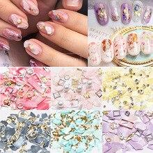 Нерегулярные осколки оболочки, Стразы для ногтей, луна, звезда, жемчуг, смешанный размер, Красочные камни, драгоценные камни, алмаз, 3D украшение для ногтей