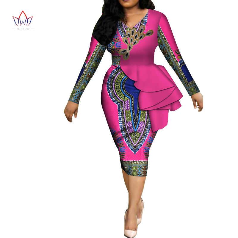 f7142ae728fac Fashion 2019 spring Africa Dresses for women vestidos Print Fabric ...
