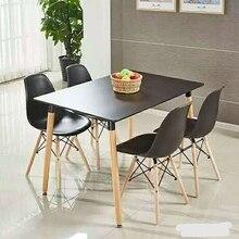 Обеденные столы, мебель для столовой, мебель для дома, обеденный стол из цельного дерева, чайный стол прямоугольной формы, минималистичный современный 120*80*75 см