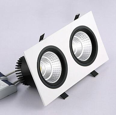 Doprava zdarma Dvojité COB LED zapuštěné světlo 2x10W - LED Osvětlení