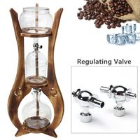 Glass 600ml 6 Cups Cold Drip Iced Coffee Maker Brew Dutch Wooden Tower Espreeo Brewer Home Kitchen Coffee Tools Kit Machine