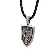 Мужское ожерелье с подвеской archangel st michael protect me