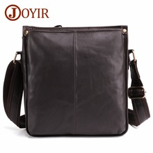 JOYIR Genuine Cow Leather Messenger Bags Flap Casual Men Solid Handbags Famous Brand Small Male Shoulder Crossbody Bags For Men