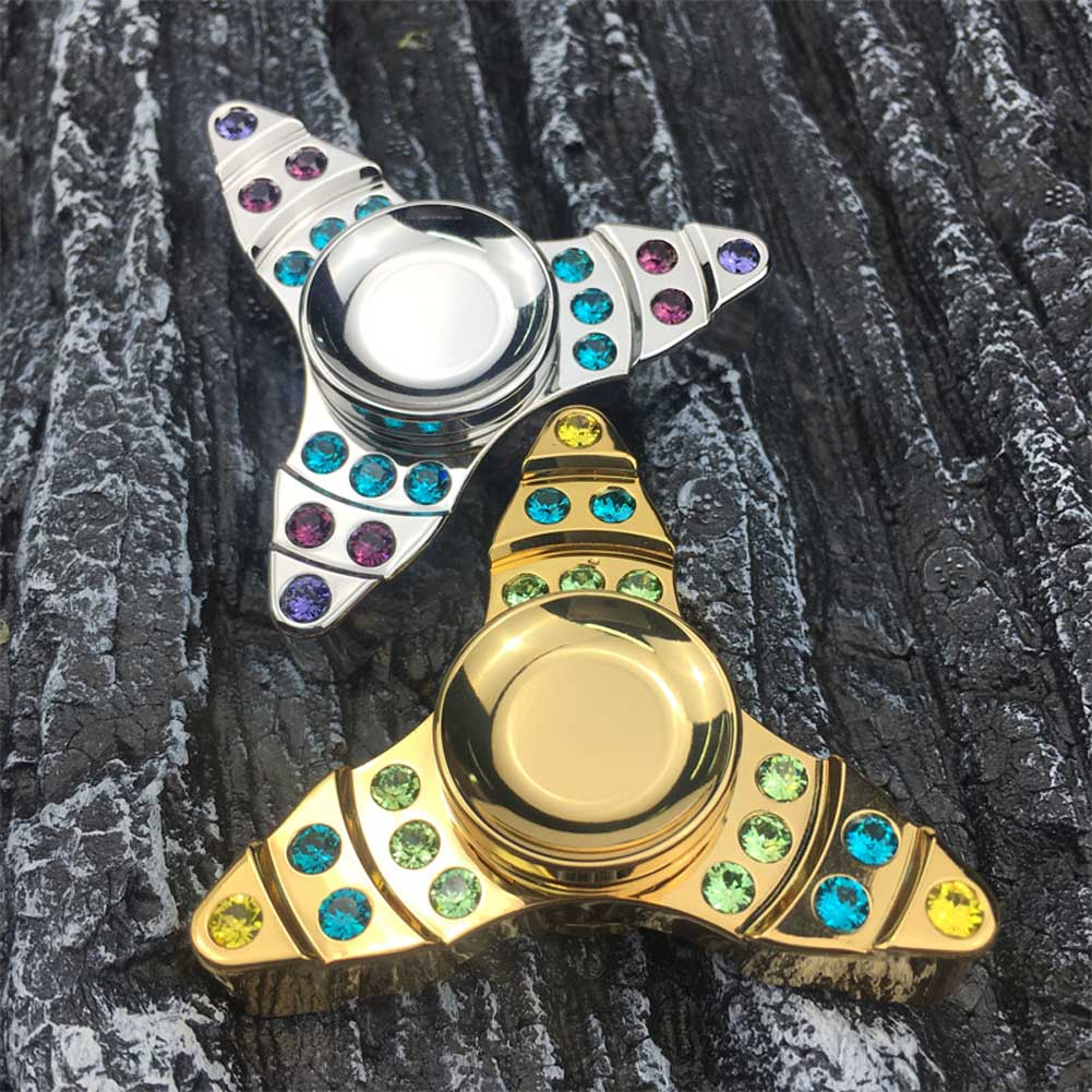 2017 New Arrival EDC Hand Spinner Fidget Toy Crwon Brass Material Toys Finger Gyro Stress Relievers