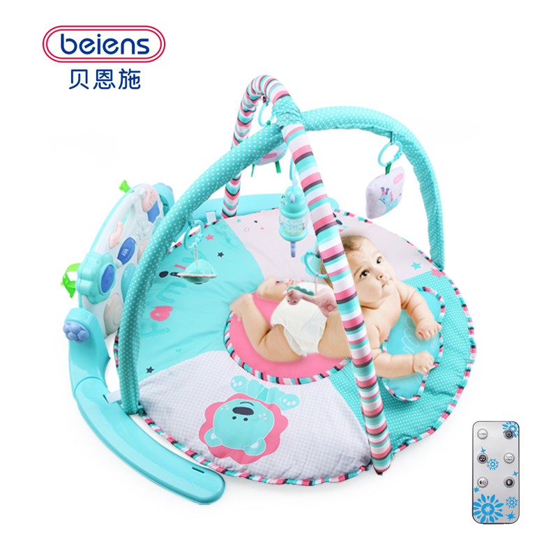 Beiens Newborns Indoor Activity Infant Play Mat Gym Educational Toy  Multifunction Piano Fitness Rack Game Mats for Babies summer kids dresses for girls pineapple lemon girl dresses cotton sleeveless children sundress sarafan clothes for girls 2 7y