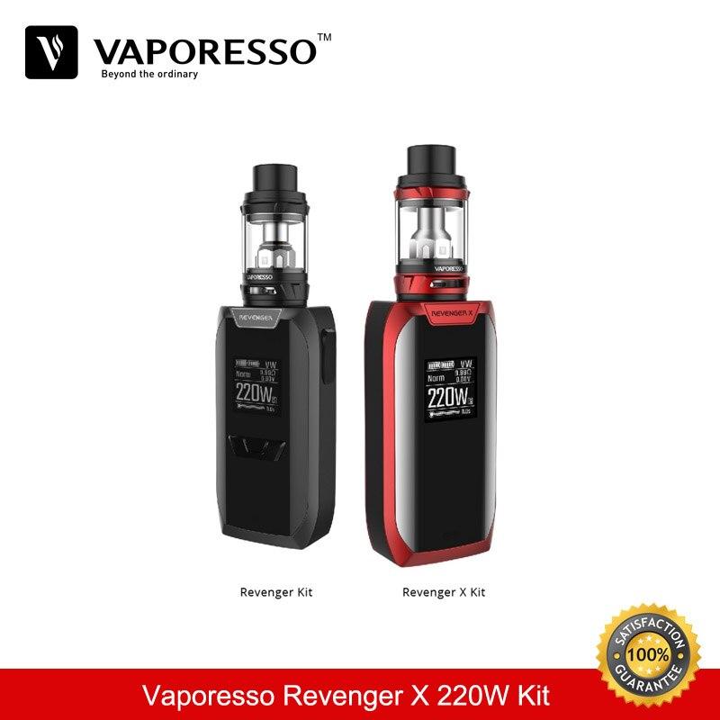 Vaporesso Revenger X Cigarette électronique Kit 220 W TC boîte Mod 5 ML NRG Vape réservoir 2 ML Cigarette Electronique vaporisateur e Cigarette