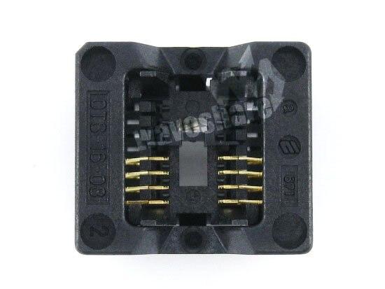 SOP8 SO8 SOIC8 OTS-8(16)-1.27-03 Enplas IC Test Burn-in Socket Programming Adapter 1.27mm Pitch 3.9mm Width