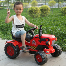 Children Electric Ride on Car Large Boys Electric Toy Car Electric Kids Cars for Kids To Ride Four Wheels Ride on Tractor Car
