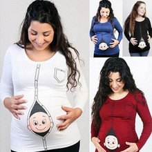 "Casual ""peek-a-boo"" Maternity T-Shirt"