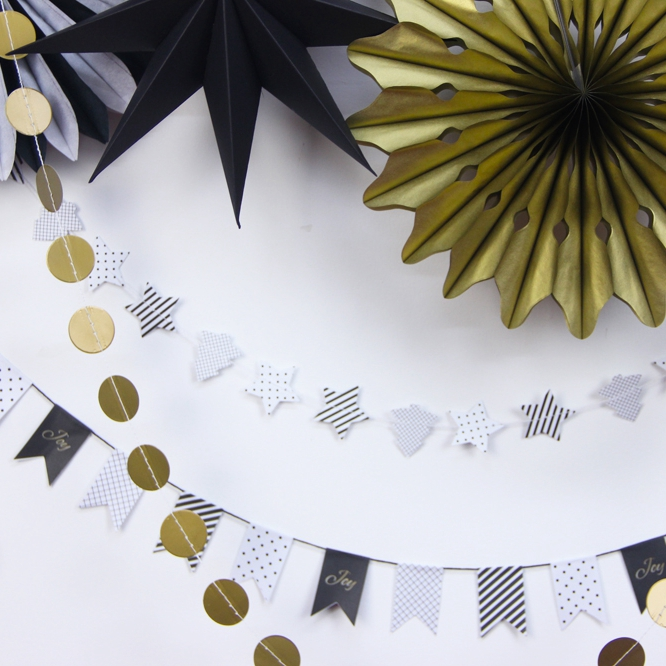 Hängande dekorationer Tinkle Little Star Paper Rosette (Banners, - Semester och fester - Foto 2