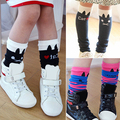 2016 Hot  Girls Kids Lovely Cat Stripes Soft Cotton Above Knee High Tights Stockings 9TBI