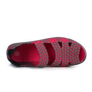 Image 4 - Sandálias femininas de verão stq 2020, sapatos baixos femininos de tecido, sandálias para senhoras, sapatos de praia flops 812,