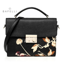 BAFELLI bag women Split Leather Black Women's Bags Shoulder Bag for Women 2018 Crossbody Leather torba damska borse donna