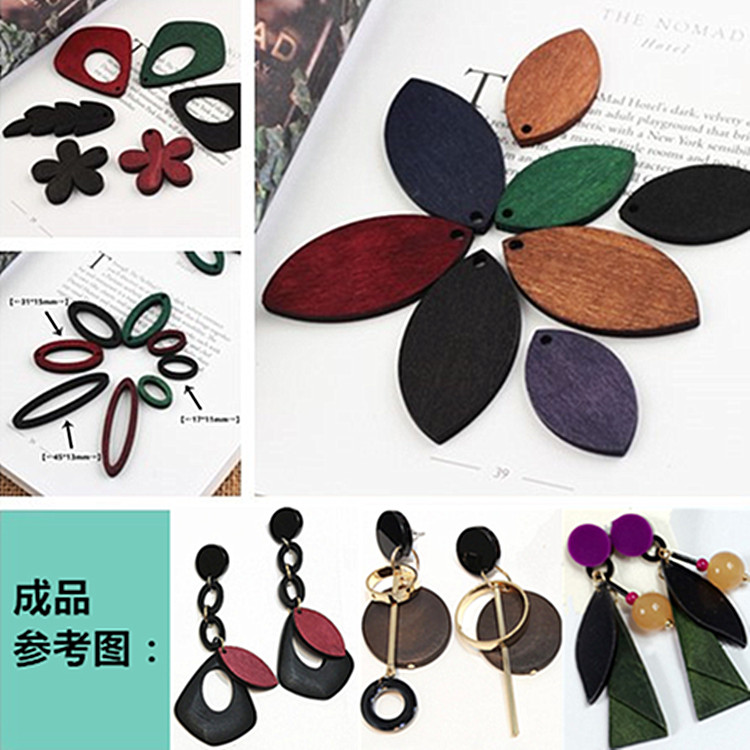 Aliexpress buy wholesale colorful print wood pendants aliexpress buy wholesale colorful print wood pendants geometric elliptical leavesflowersfish shape handmade necklaceearring decoration charm from aloadofball Choice Image