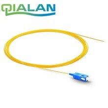 1 m 50 pcs SC UPC In Fibra Ottica Della Treccia Simplex 0.9 millimetri Rivestimento di PVC cavo In Fibra G657A cavo In Fibra ottica
