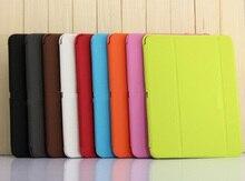 Negocio Elegante Plegable de la PU caso de la Cubierta de Libro de Cuero para samsung galaxy tab 4 10.1 T530 T531 T535 tablet + pantalla protector + stylus