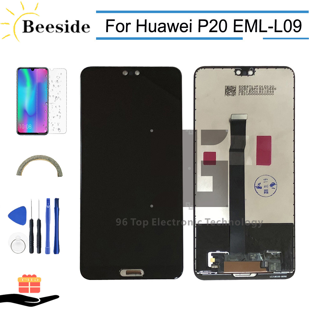 AA+ Quality LCD With Frame For Huawei P20 EML L09 EML L22 EML L29 EML AL00 LCD Display Touch Screen Digitizer Assembly Replace-in Mobile Phone LCD Screens from Cellphones & Telecommunications