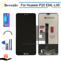 AA+ Quality LCD With Frame For Huawei P20 EML L09 EML L22 EML L29 EML AL00 LCD Display Touch Screen Digitizer Assembly Replace