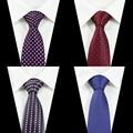 New Design Wedding Ties For Men Custom Brand Man Dot Necktie Corbatas Hombre 2016 Gravata 7.5cm Club Party Business Men's Tie