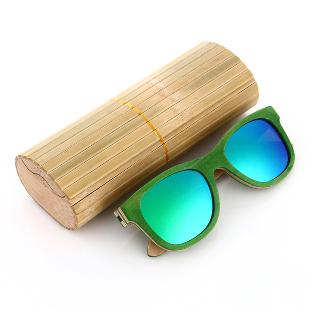 skateboard wooden sunglasses polarized sunglasses Oculos de sol men green wooden sunglass retro vintage wood  bamboo sunglasses