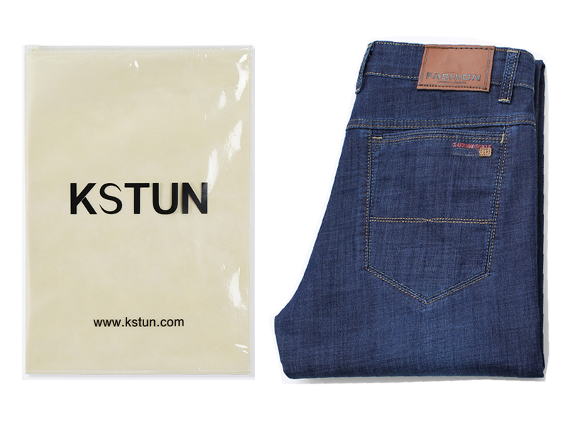KSTUN Jeans Men Summer 2019 Blue Classic Straight Stretchy Business Casual Ultrathin Soft Breathabel Men's Clothing Jeans Homme 17