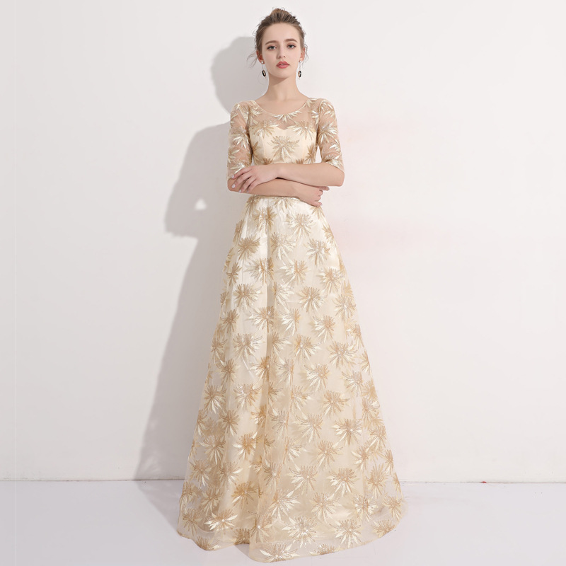 Luxury Dresses Women 2018 Runway Bridesmaid Floral Mesh Sequin Formal Retro Winter Boho Sexy Elegant Vintage Party Club Dress