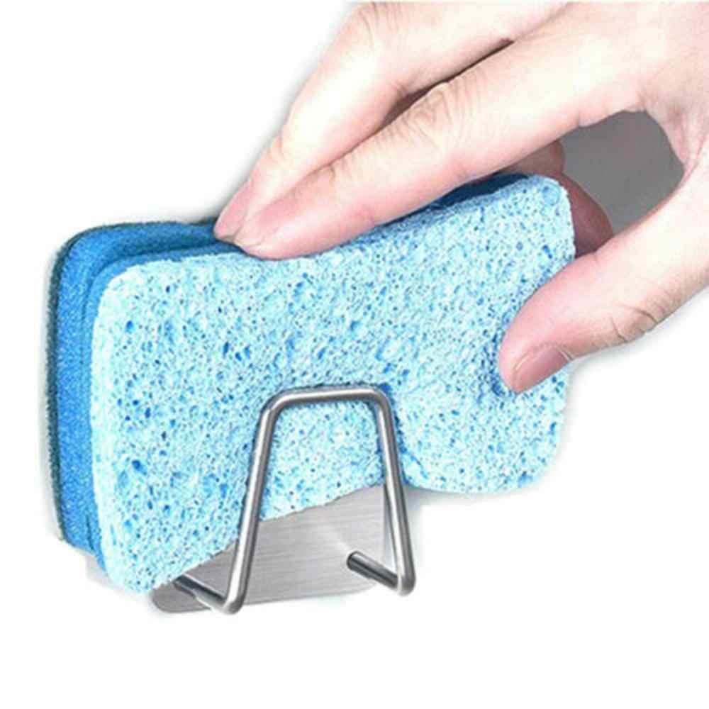 Aço inoxidável torneira da cozinha sponge titular adjustbale sink caddy organizador escova de sabão lavar louça escorredor rack armazenamento 5pz