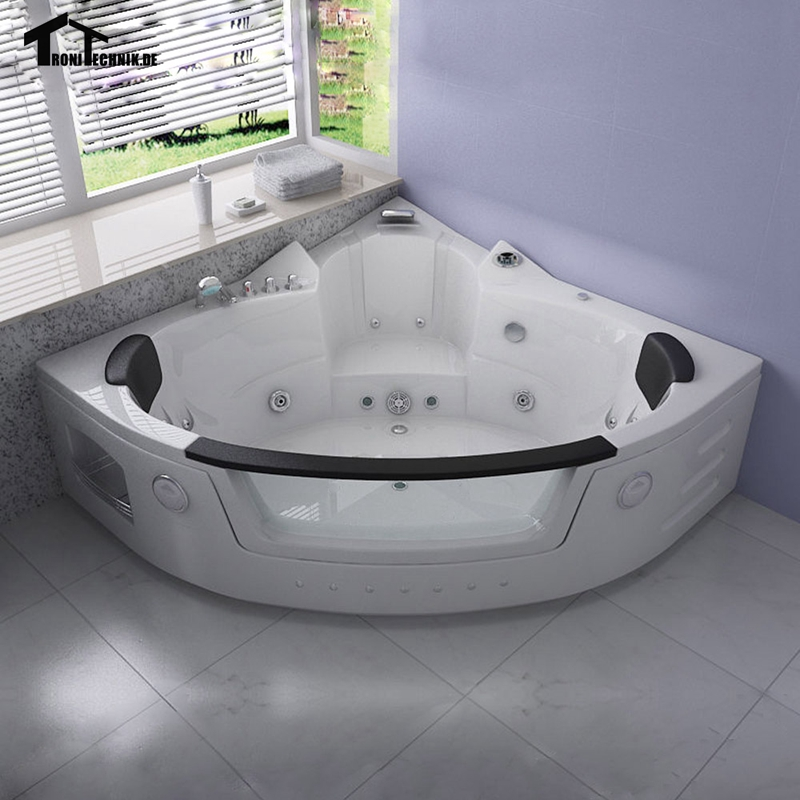 1350mm Whirlpool Wall Corner hot tub Glass Acrylic Triangular ...