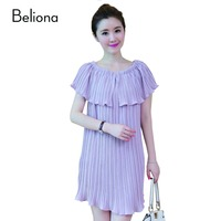 Charming Purple Chiffon Maternity Dresses For Pregnant Women Elegant Slim Pregnancy Dress Casual Maternity Clothes Ropa
