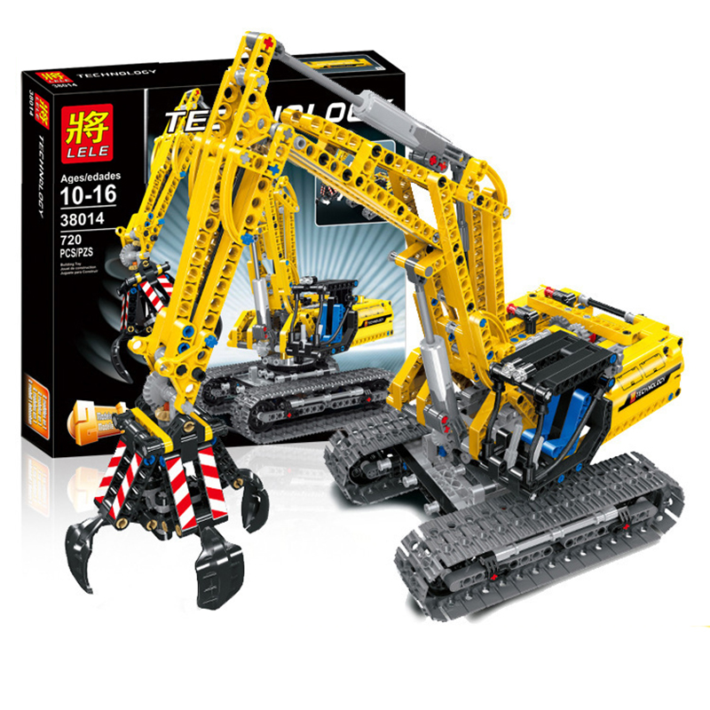 720pcs 2in1 Compatible Brand Technic Excavator Model Building Blocks Brick Without Motors Set City Kids Toys for children Gift 1
