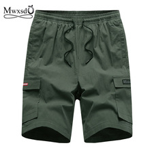 Mwxsd brand summer casual men cotton shorts men high quality knee length cargo shorts male breath soft shorts bermuda masculina недорого