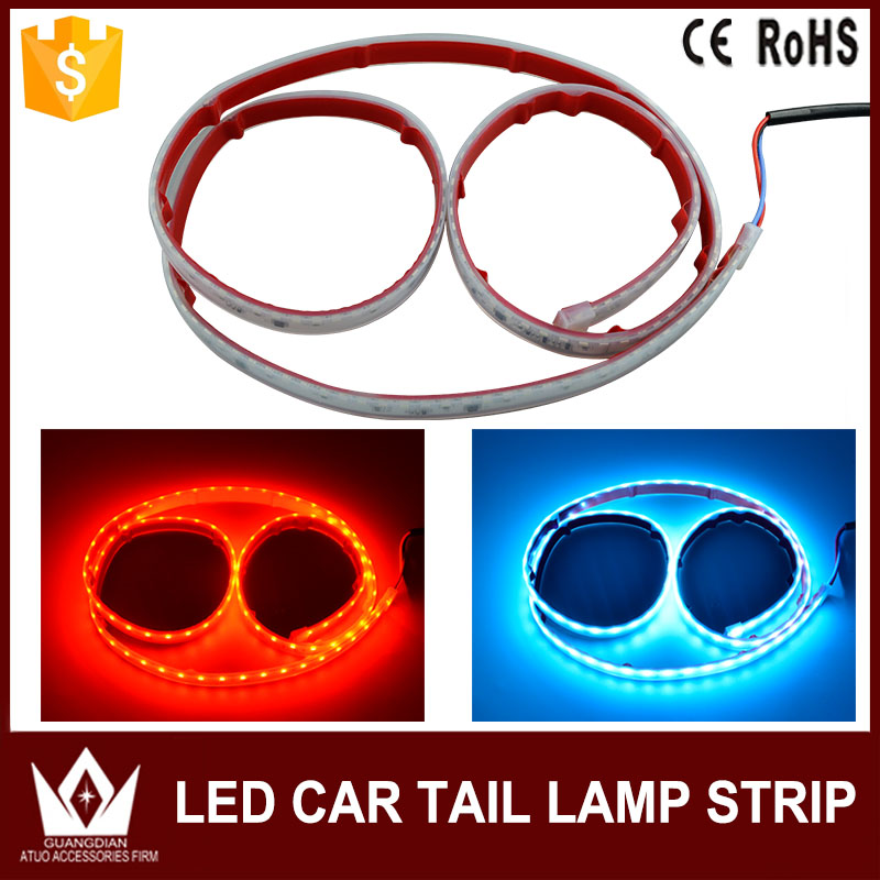 NightLord for renault super 5 gt Flexible LED Car  Tailgate Light Bar Red and blue Running/Brake/Reverse/Signal/Rear Strip Light