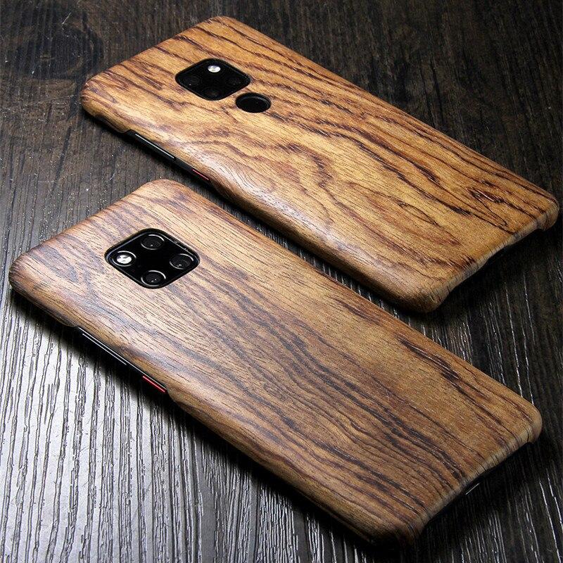 Para huawei mate 20 x/mate 20 pro/mate 20 lite/mate 30 noz enony madeira de bambu rosewood mogno de madeira volta caso capa