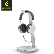 Hagibis 3 Ports of 3.0 Usb Hub Earphone Headset Holder High Quality Headphone Desk Display Stand for Earphone Accessories
