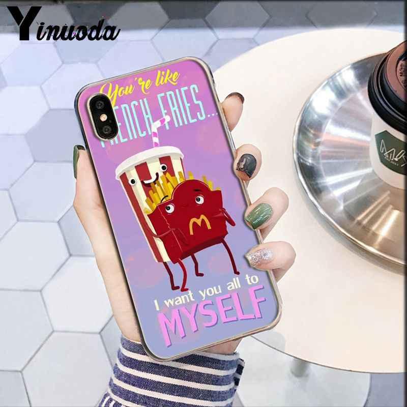 Милый мультфильм Картофель фри burger авокадо еда Новинка чехол для телефона Fundas чехол для iPhone 6 S 6 plus 7 8 плюс X Xs MAX 5 5S XR