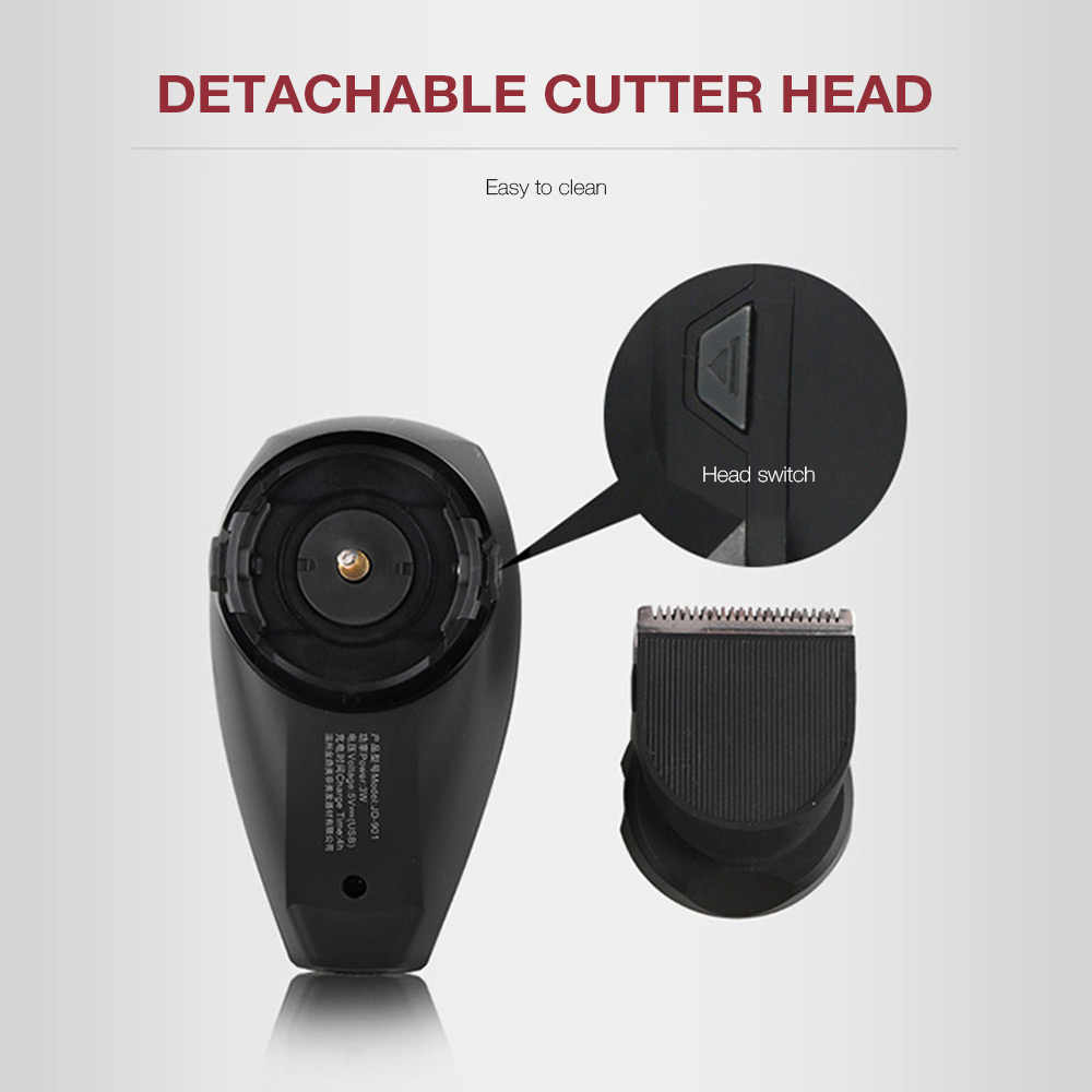 JINDING akumulator mężczyźni maszynka do włosów profesjonalne usb ładowania zestaw trymerów męska bezprzewodowy strzyżenie z 4 Limit grzebienie + 1 szczotka