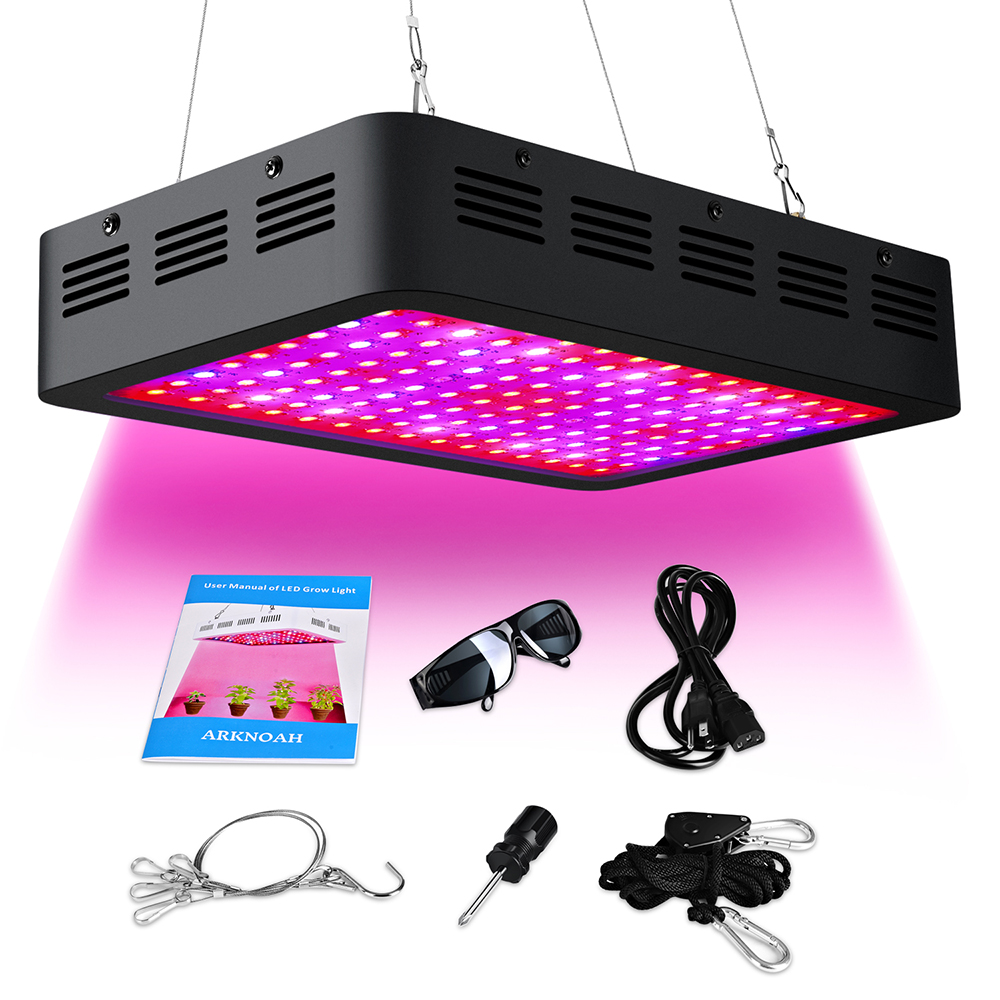 300W Full Spectrum LED Grow Light with UV IR for Hydroponic Indoor Greenhouse Grow Tent Garden Plants Growing in Veg and Bloom best led grow light 600w 1000w full spectrum for indoor aquario hydroponic plants veg and bloom led grow light high yield