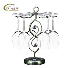 цены CYF new style beads, wine rack, hanging cup, European style wrought iron red wine cup rack