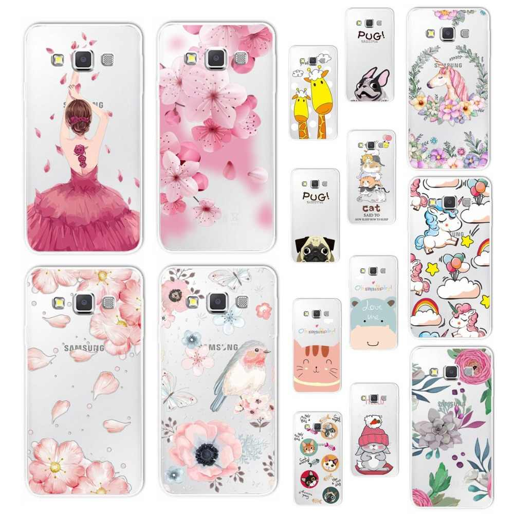 3D Relief Lace Flowers Case Cover For Samsung Galaxy A3 A5 2015 Cute Cat Case For Samsung  A3 2017 Coque J2 J5 J7 Prime Neo