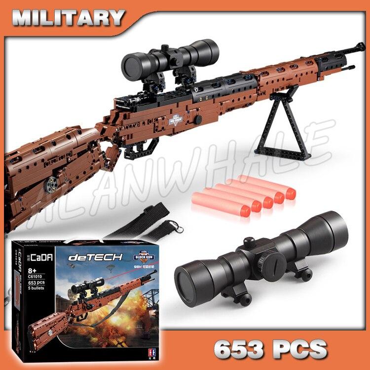 653 pièces modèle jouet pistolet série KAR98K Mauser tir pistolet PUBG arme pour militaire assaut plastique balle soldat Compitable avec Lego