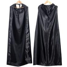 Черный костюм на Хеллоуин театральный реквизит смерти Толстовка плащ дьявола Длинная накидка с капюшоном Косплей Новая мода для дропшиппинг
