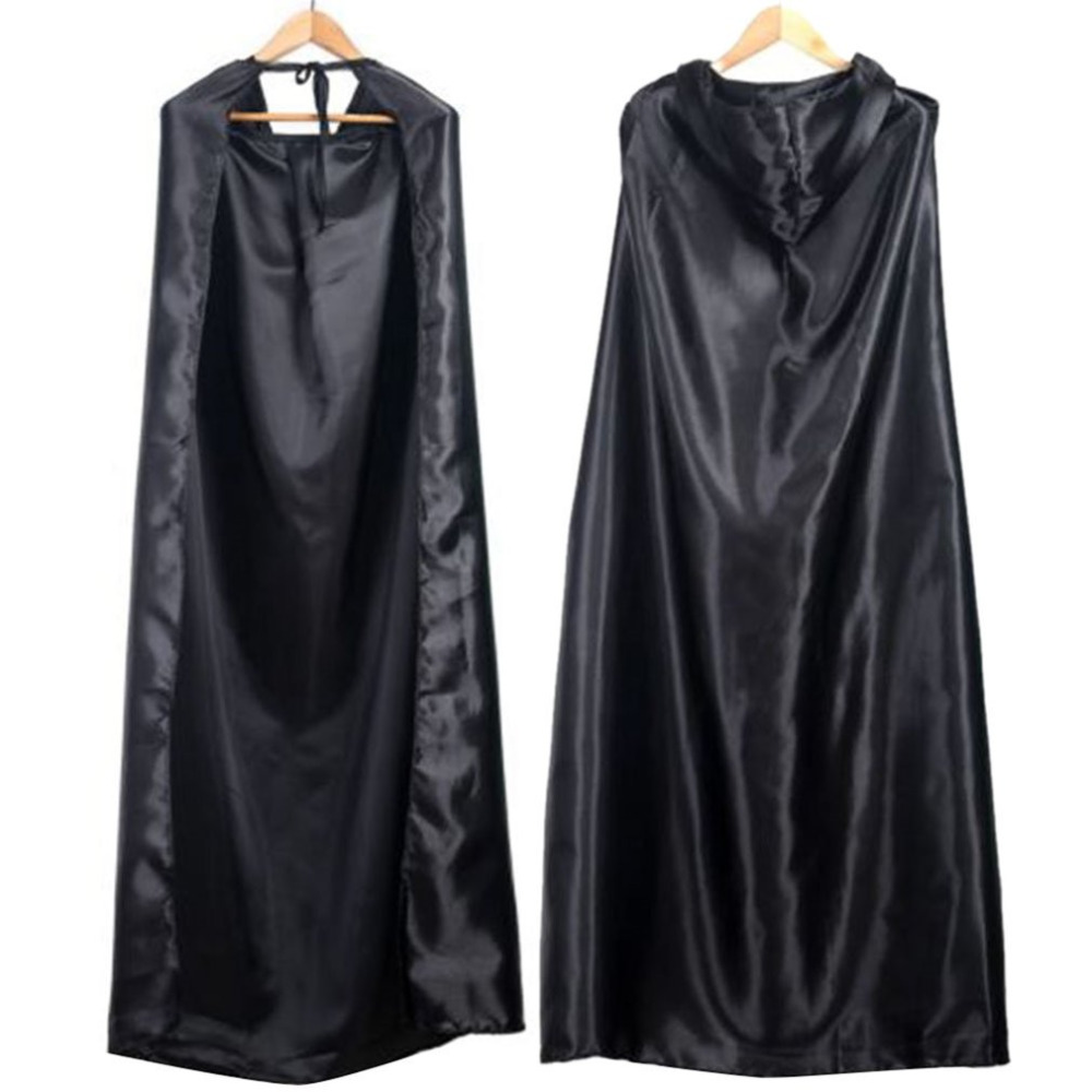 Black Halloween Costume Theater Prop Death Hoody Cloak Devil Long Tippet Cape Cosplay New Fashion For Dropshipping